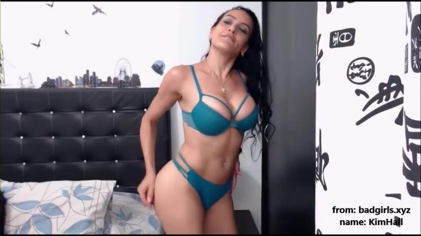 KimHall flashes big boobs on cam